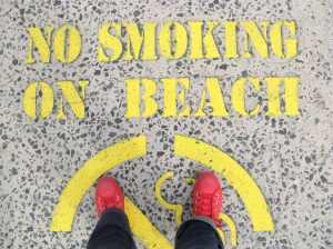 smoke free sand